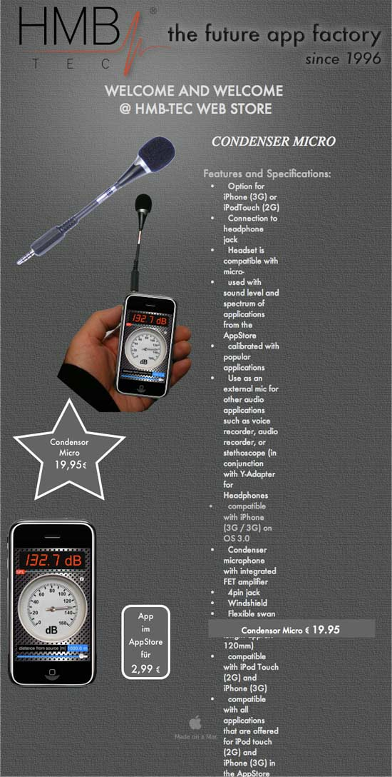 amazing iphone gadgets hmb tec condenser microphone info