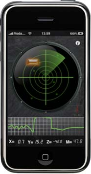 metal detector radar 3gs iphone ipad app