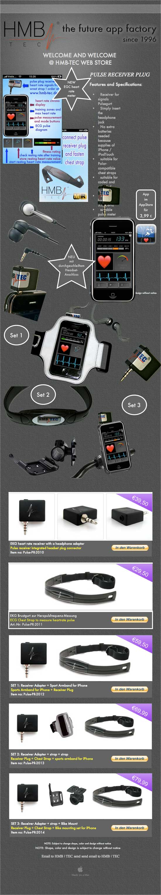 apple iphone headphone jack egc heart rate monitor