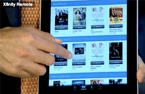 comcast ipad xfinity remote app prototype movie