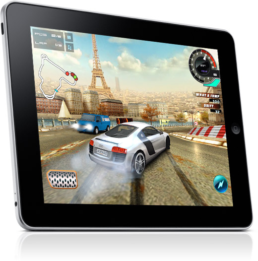 asphalt 5 racing app for the apple ipad
