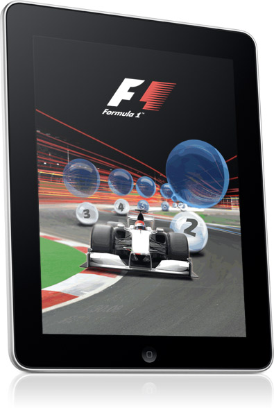 f1 2010 racing app for the apple ipad
