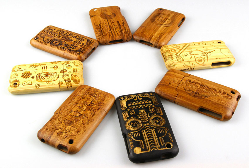 laser engraved bamboo iphone cases by grove choose