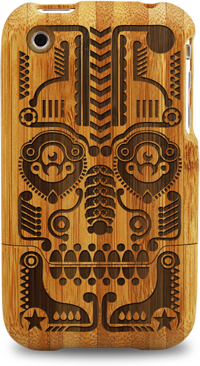 laser engraved bamboo iphone cases by grove jonny