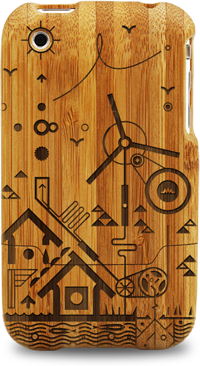 laser engraved bamboo iphone cases by grove leondro