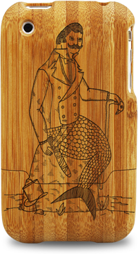 laser engraved bamboo iphone cases by grove michael