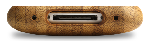 laser engraved bamboo iphone cases by grove speaker