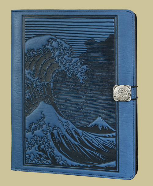gorgeous leather ipad case by oberon design handcrafted beautiful designs and colors blue
