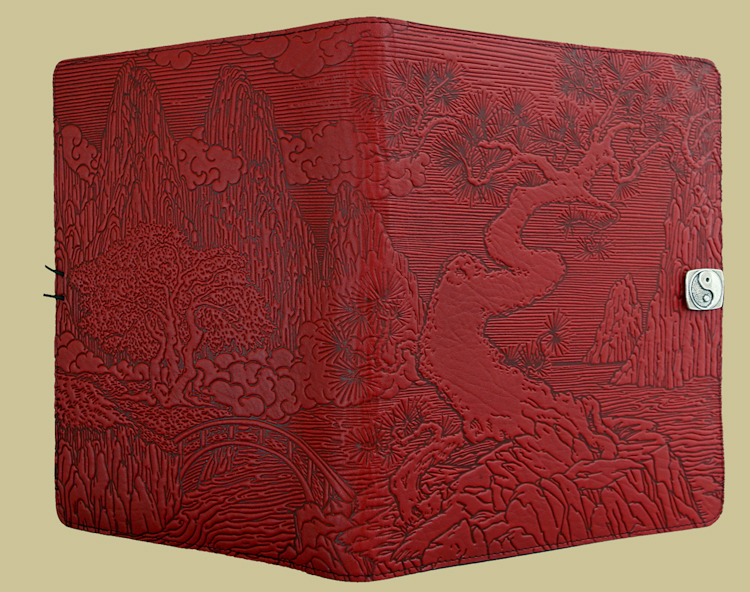gorgeous leather ipad case by oberon design handcrafted beautiful designs and colors red