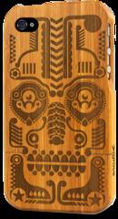 iphone 4 bamboo case grovemade laser engraved art designs jonny