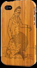 iphone 4 bamboo case grovemade laser engraved art designs merman