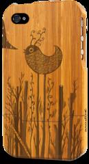 iphone 4 bamboo case grovemade laser engraved art designs sven