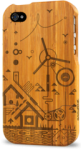 iphone 4 bamboo case grovemade laser engraved art designs wind
